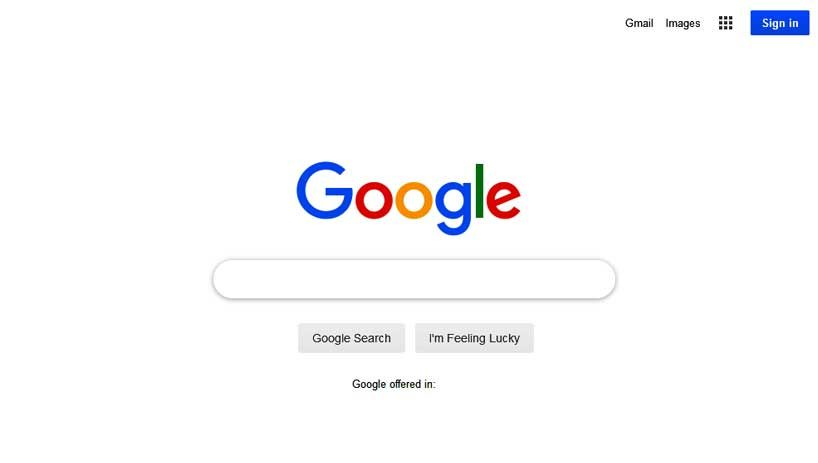 google-front-page