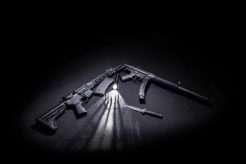 Two-Black-Assault-Rifles
