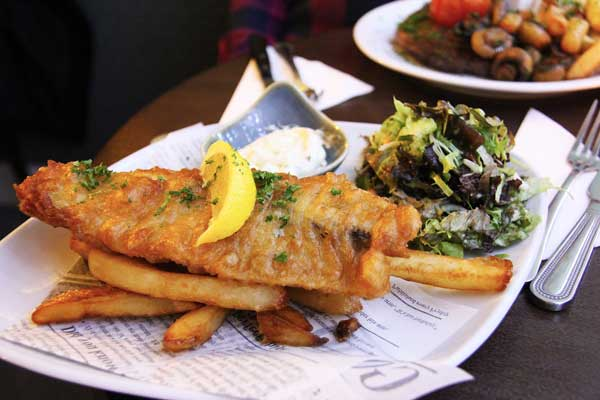 Fish and Chips healthy delicious food, England