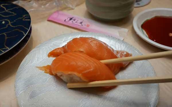 healthy delicious food- Kaiten-sushi, Japan