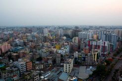 The city of Bangladesh lockdown